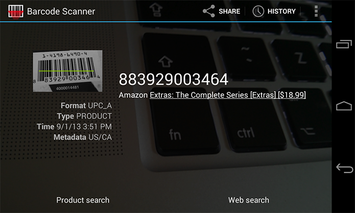 Leia códigos de barra com a câmera (Foto: Reprodução/Google Play)