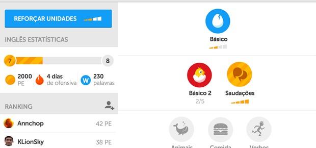 """""""Duolingo"""" gamifica o aprendizado de idiomas (Foto: Divulgação)"""