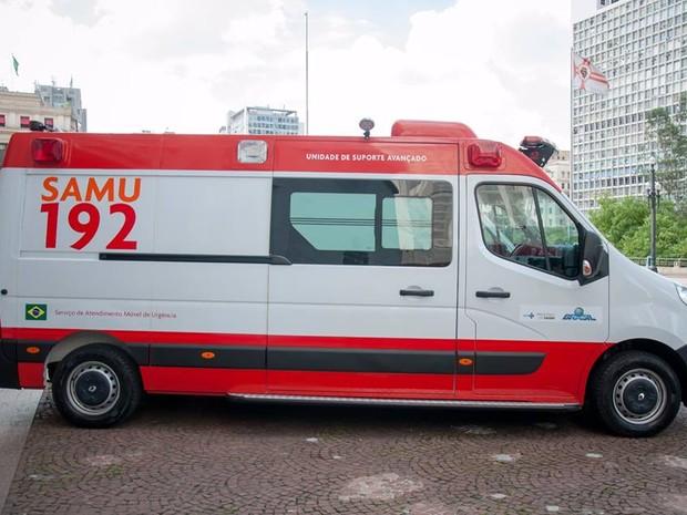 Peruíbe recebeu uma ambulância do SAMU (Foto: Divulgação/Prefeitura de Peruíbe)