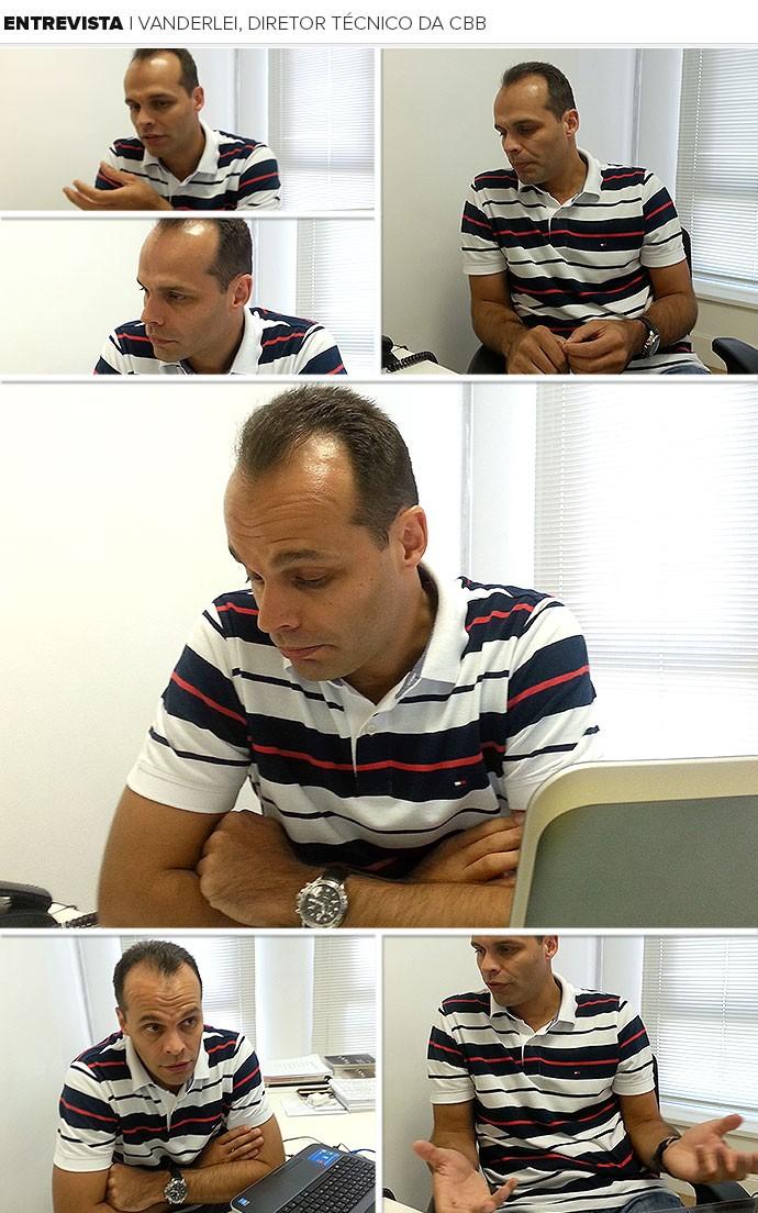 Mosaico Vanderlei, diretor técnico da CBB (Foto: Marcello Pires)