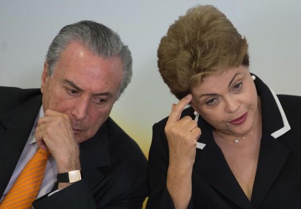 Dilma Rousseff e Michel Temer (Foto: José Cruz/Agência Brasil)