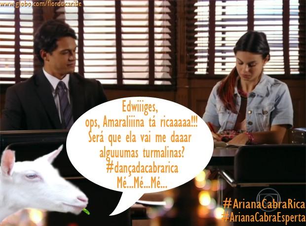 Ariana e Amaralina (Foto: Flor do Caribe/TV Globo)