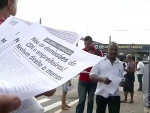 Cerca de 300 pessoas foram demitidas (Foto: Reprodução/TV Rio  Sul)