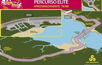 No detalhe: veja o mapa e a premiação individual das Ciclísticas Archer Pinto