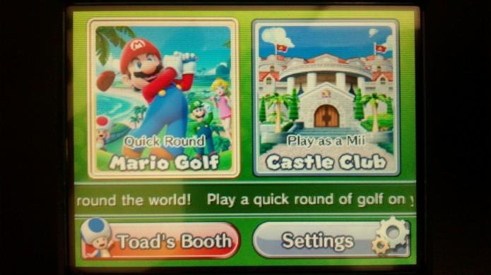 Mario Golf World Tour conta com duas formas de diversão (Foto: Paulo Vasconcellos)