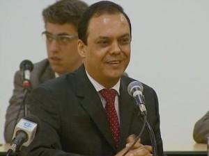Silvio Félix presta depoimento na Câmara de Limeira (Foto: Reprodução/EPTV)