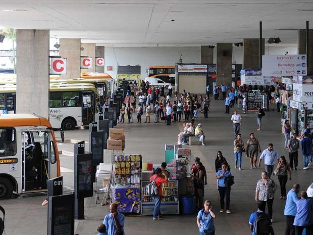 Rodoviária do Plano Piloto, no centro de Brasília (Foto: Dênio Simões/Agência Brasília)