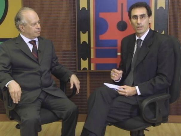 No primeiro episódio, Antônio Góis recebe o professor Aloisio Araujo, do Instituto Nacional de Matemática Pura e Aplicada. (Foto: Divulgação)