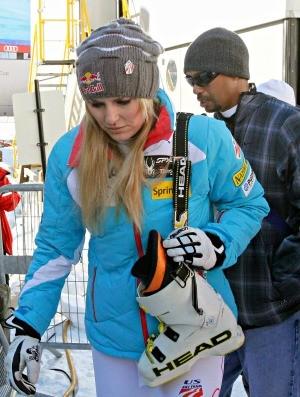 Lindsey Vonn e Tiger Woods, esqui alpino (Foto: Agência Reuters)