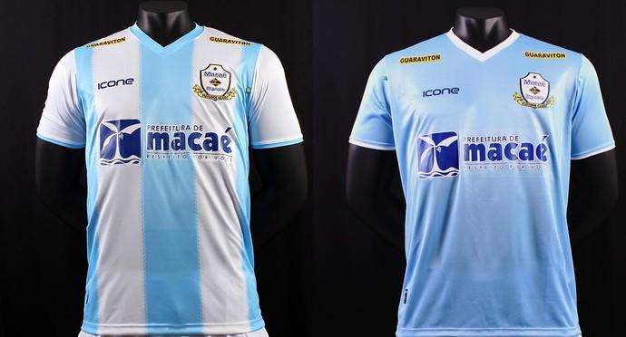 Nova fornecedora divulga o uniforme do Macaé para a temporada 2014 ... e2800f8995bf4