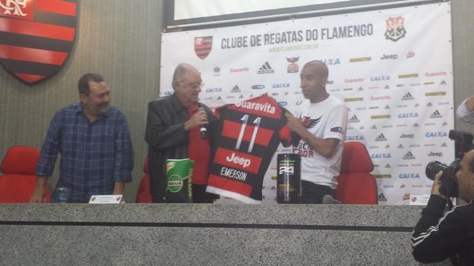 Sheik apresentação Flamengo (Foto: Fred Gomes)