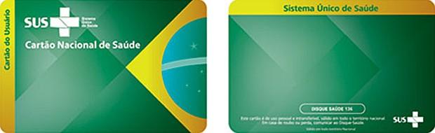 Cartão SUS (Foto: Ministério da Saúde/Divulgação)