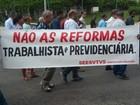 Cidades do Sul do RJ registram atos contra a reforma da Previdência