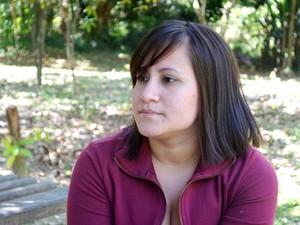 Denise Pinto, filha do senador boliviano (Foto: Rayssa Natani/G1)