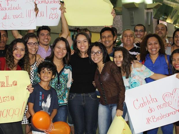 Anna Beatriz chega ao Tocantins (Foto: Vilma Nascimento/G1)