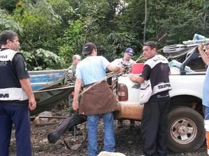 Cinco pessoas são autuadas em operação do IEF em Uberlândia (Foto: Divulgação/PM)