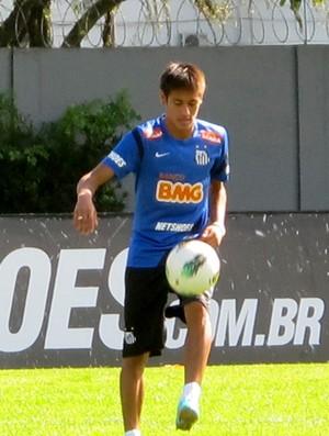 neymar santos treino (Foto: Marcelo Hazan / Globoesporte.com)