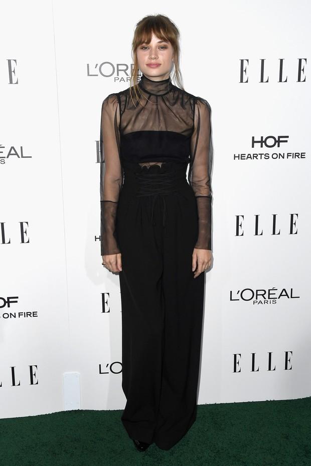 Atriz Makenzie Leigh em prêmio em Los Angeles, nos Estados Unidos (Foto: Frazer Harrison/ Getty Images/ AFP)