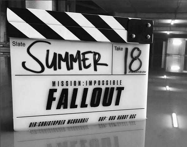 A primeira foto compartilhada por Tom Cruise no Instagram, revelando o nome do sexto Missão: Impossível (Foto: Instagram)