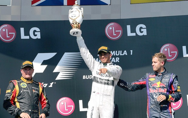 Hamilton pódio GP Hungria (Foto: EFE)