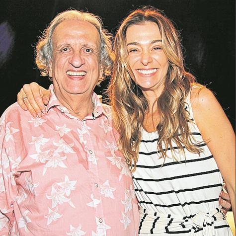 Bemvindo Sequeira com Mônica Martelli  (Foto: Sanny Soares)