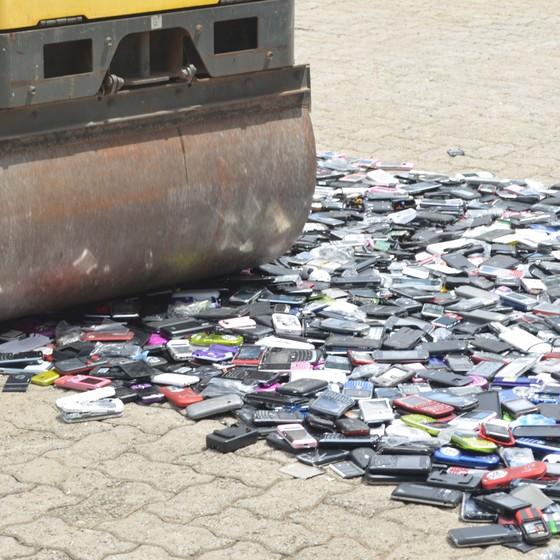 Receita Federal destrói produtos piratas (Foto: Fotos Públicas)