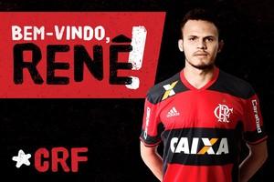 Renê é anunciado como novo jogador do Flamengo (Foto: Twitter oficia do Flamengo)