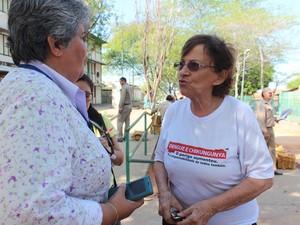 Amariles Borba fala da importância do apoio do Exército no combate à dengue (Foto: Catarina Costa/G1 PI)