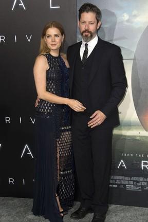Amy Adams e o marido, Darren Le Gallo, em première de filme em Westwood, na Califórnia, nos Estados Unidos (Foto: Valerie Macon/ AFP)