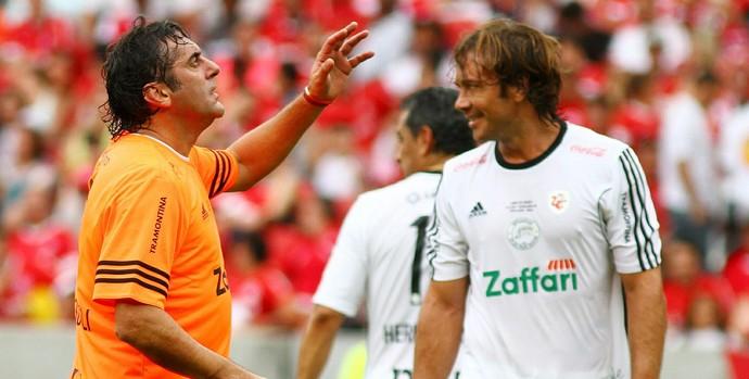 Lugano atuou no jogo beneficente Lance de Craque no Beira-Rio (Foto: Lucas Uebel/Divulgação)