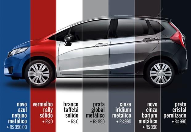 Preços de todas as cores do novo Honda Fit (Foto: Autoesporte)