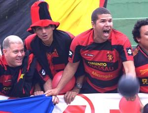 Comemoração Torcida Sport (Foto: Pakito Varginha / Agência estado)