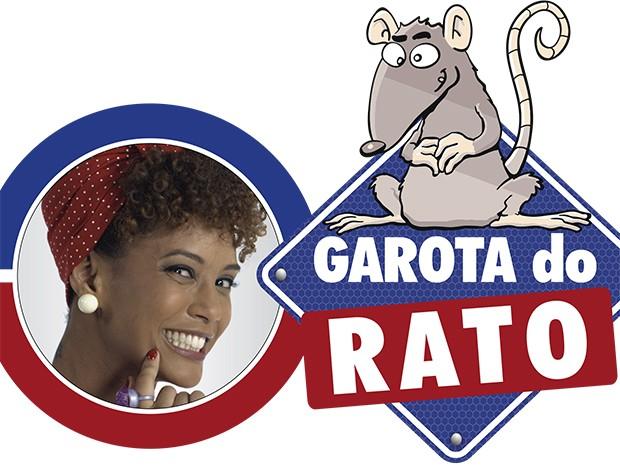 Verônica Monteiro, ex-Garota do Barata, agora é a Garota do Rato (Foto: Fato na Rede)