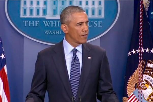Barack Obama, presidente dos Estados Unidos, ao lamentar o massacre na boate gay Pulse, em Orlando (Foto: Reprodução)