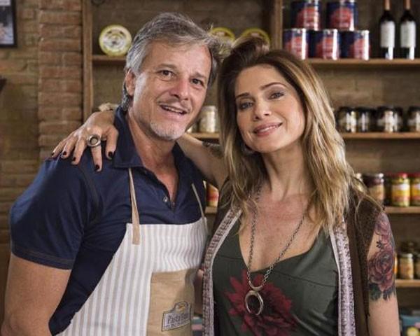 """Marcello Novaes e Letícia Spiller em """"Sol Nascente"""" (Foto: Divulgação/TV Globo)"""