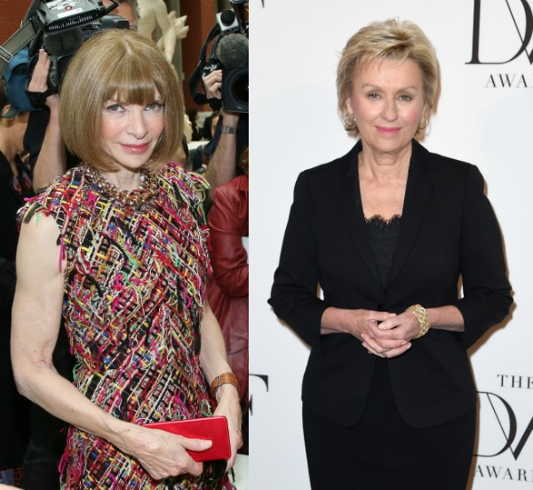 As editoras Anna Wintour e Tina Brown (Foto: Getty Images)