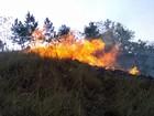 Pastagem com cerca de 10 mil m² pega fogo em Poços de Caldas, MG