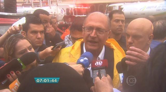 'Ele será resconstruído', diz Alckmin sobre o Museu da Língua Portuguesa, em SP