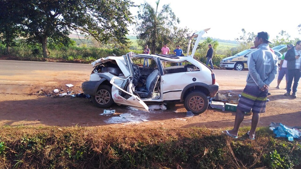Homem fica gravemente ferido em acidente na PR-492 (Foto: Divulgação/Polícia Rodoviária Estadual)
