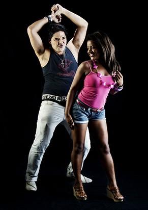 Dionisio Ribeiro e Érica Ribeiro em cena (Foto: Nelson Aguilar)