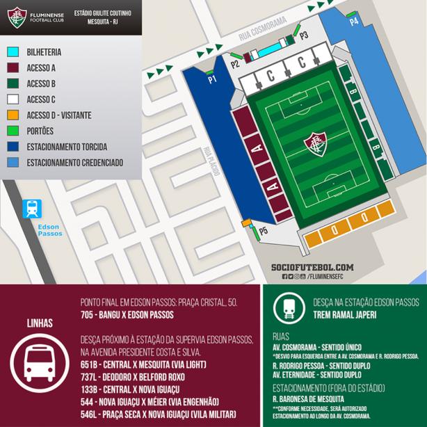 Mapa Edson Passos Fluminense (Foto: Divulgação/Fluminense)