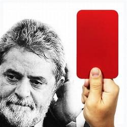 Cartão vermelho Lula (Foto: Arte: Antonio Lucena) | Cartão vermelho Lula (Foto: Arte: Antonio Lucena)