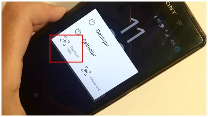 Escolha a opção Capturar Tela para tirar print no aparelho (Foto: Camila Peres/TechTudo)