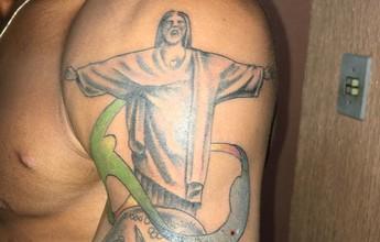 Campeão olímpico, Robson tatua medalha e Cristo Redentor no braço