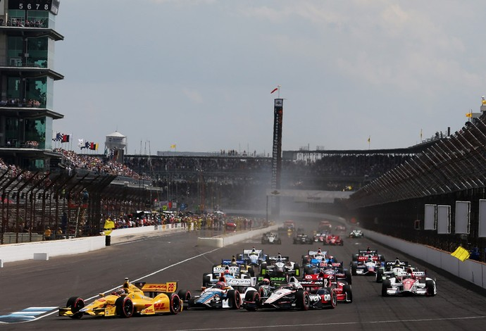 formula indy largada (Foto: Getty Images)