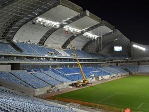 Arena das Dunas, em Natal, realiza pré-teste de luz e som nesta segunda-feira (Foto: Jocaff Souza)