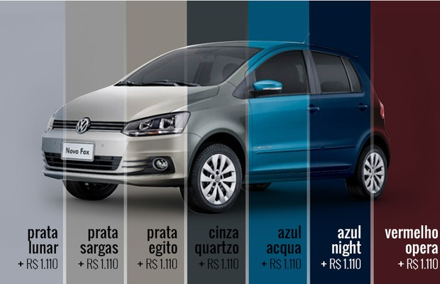 Volkswagen Fox_Cores 2 (Foto: Autoesporte)