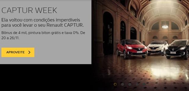 Renault-faz-algumas-promoções-para-a-Black-Week. (Foto: Reprodução)