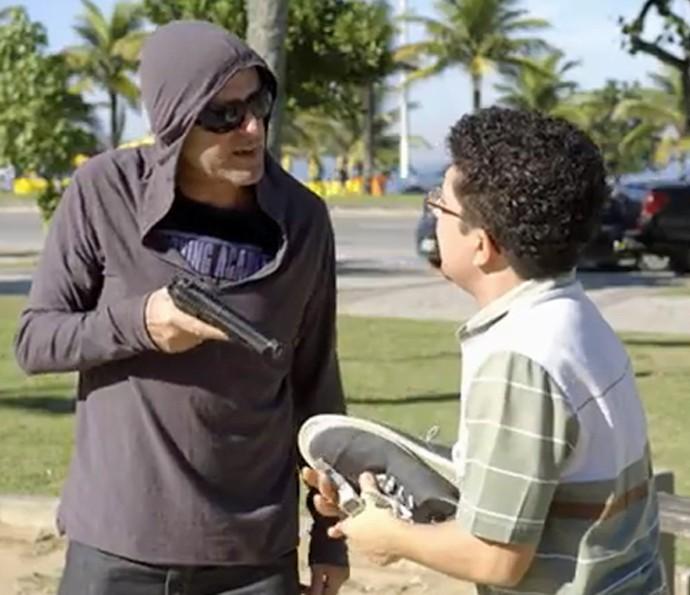 Zorra mostra um assalto muito surreal neste sábado (Foto: TV Globo)