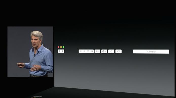 Novo visual do OS X Yosemite muda sutilmente barras de tarefas e ícones (Foto: Reprodução/Apple)
